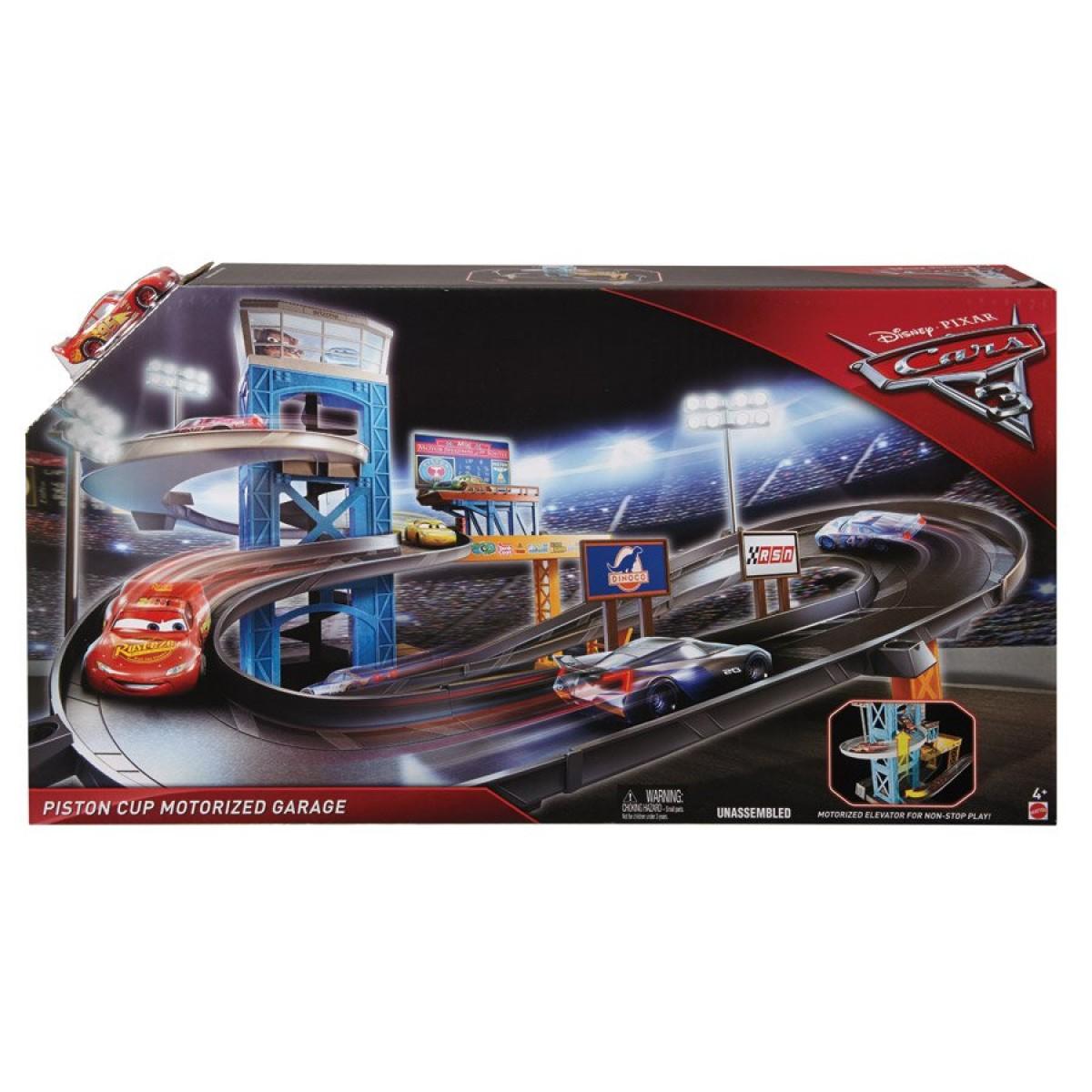 Disney Cars 3 Piston Cup Motorized Garage Toys Casey S